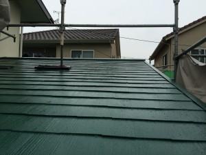 屋根塗装完了です。